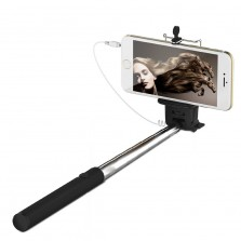 Wired Selfie Stick For Smartphones Black