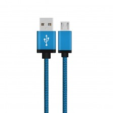 Braided Micro USB Cable Blue