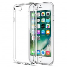Silicone Clear Back Case for iPhone 7