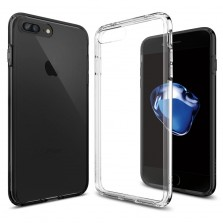 Silicone Clear Back Case for iPhone 7+