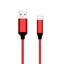Braided Micro USB Charge and Sync Round 3meter Cable