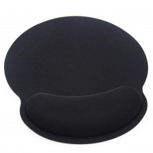 Memory Foam Mouse Pad with Wrist Support Black